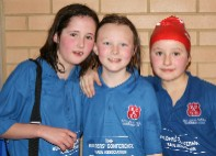 Some of the Sutton and Cheam Swimmers in their new Builders Conference Sponsored shirts