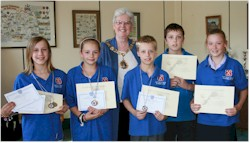 Sutton & Cheam swimmers with Mayor of Sutton, Councillor Margaret Court