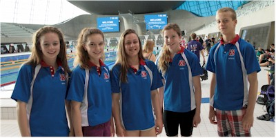 Some of our swimmers on poolside at LAC