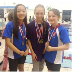 Some of Friday night's medallists