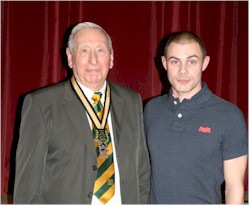 Ian Rooke with President Fred Andrews