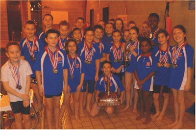 Youth & Junior Squads with Borough Champs Trophies
